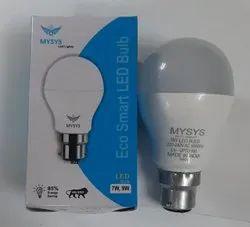 Aluminum Round Led Bulbs 9w, For Indoor, Base Type: B22