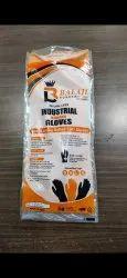 Washable Orange Rubber Hand Gloves