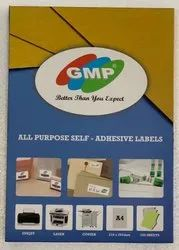 White self- adhesive paper labels