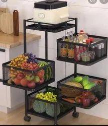 Metal BLACK Vegetable Basket ( M S Design), For Home, Size: Box 450x450mm(1.5x1.5feet)