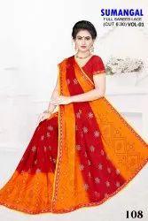 Jaipuri Chunri Printed Saree