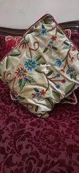 Hand Embroidered Chikankari Designer Kashmiri Velvet Cushion Covers