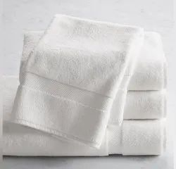 Cotton White Plain Hand Towel, Size: 16*24