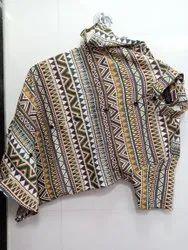 Satin Collar Neck Men Party Wear Printed Shirt