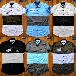 Plain Full Sleeves Ck Lycra Shirts