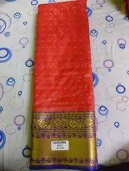Casual Wear Plain Banarasi Cotton Silk Saree, 6.3 m (with blouse piece)