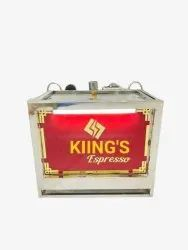 Kiings Espresso Tea And Coffee Machine Manufecturer, Silver