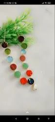 Electroplated Multicolour Druzy Pendant 60 Rs