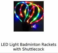 Led light badminton racket