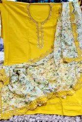 Designer Ladies Cotton Embroidered Kurtis