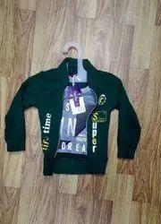 Printed Zipper Kids Wear Jacket, Full Sleeves
