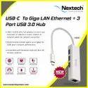 NEXTECH NA9C USB C TO RJ45 LAN & 3 PORT USB 3.0 HUB
