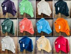 Casual Wear Cotton Mens Plain Shirt