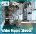 Stainless Steel Water Ripple Sheet, Usage Facade, Wall Cladding, Ceiling, Lobby