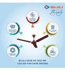 Bajaj Edge 1200mm Ceiling Fan Brown, Fan Speed: 400 Rpm, Power: 66w