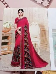 Printed Casual Wear Designer Exclusively Saree, 7 With Blouse Piece
