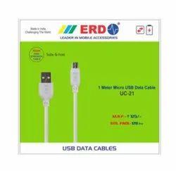Erd Uc-21 Single Pin Micro Usb Data / Charging Cable ( 1 M, White )