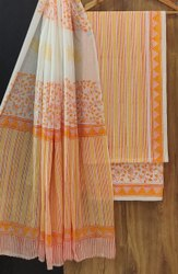 Bagru Hand Block Print Cotton Dress Material With Dupatta 700....