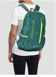 Polyester Green Aristocrat Backpack, Number Of Compartments: 2, Bag Capacity: 15 Ltr