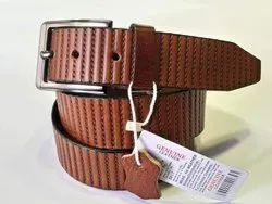 Casual Wear Tan Prc Genuine Leather Belt