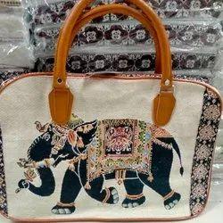 Handmade Elephant Printed Bag