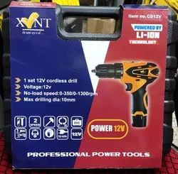 XVENT 12V 1.5Ah 10mm Cordless Drill Driver Supplied with 2Batteries & 1Charger