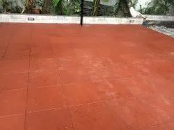 Red Square Ceramic Floor Tiles, For Flooring, Thickness: 15 mm