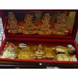 Gold Plated Golden Shree Dhan Laxmi Kuber Dhan Varsa Yantra