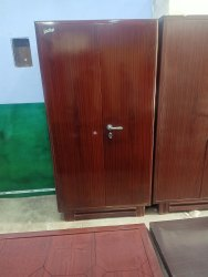 2 Doors Iron Almirah, With Locker
