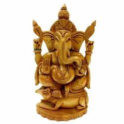 Wooden Paoti Sitting Ganesha