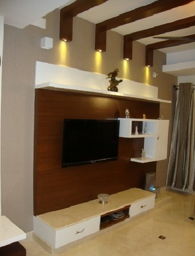Design For Living Room Tv Cabinet: Brown Living Room TV Cabinet, For Home, Rs 30000 /unit