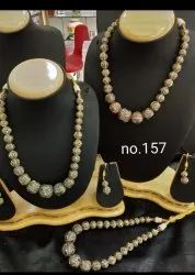 Black Diamond Bol Party Wear Mala