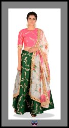 Bollywood style Pure Silk  Lehenga choli