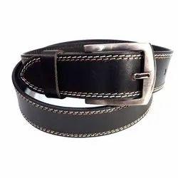 Male Alloy Black Leather Belt