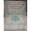 Cotton Printed Kantha Saree, 5.5 M Separate Blouse Piece