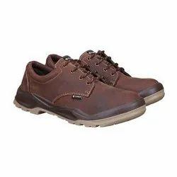 钢脚趾棕色安全鞋,包装类型:盒,型号:BEN 01