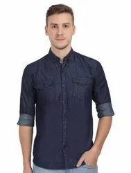Men'S Stylish Denim Shirt