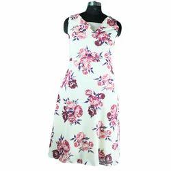 Sleeve Less Small Ladies Midi Dress