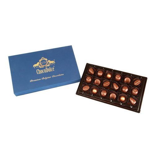 ChocoDolce Rectangular, Circular Belgian Couverture Chocolate with Roasted Assort Nuts-18Pc, Packaging Type: Box