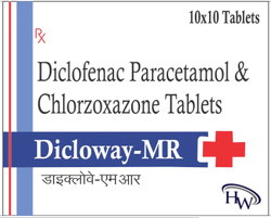 Diclofenac Paracetamol And Chlorzoxazone Tablets