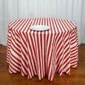 Custom Poplin Striped Table Cloth