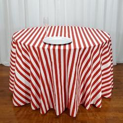 Poplin Striped Table Cloth