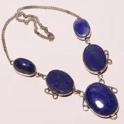 Lapis Lazuli Silver Overlay Handmade Necklace