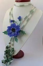 Jeco Moti Sheed Beed Necklace Set, Size: Long
