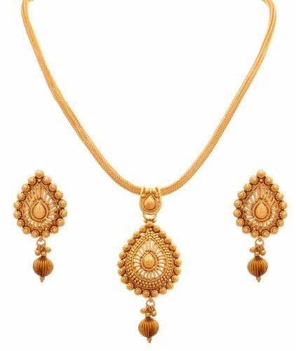 Jfl drop shape one gram gold plated pendant set jhumke ka set jfl drop shape one gram gold plated pendant set aloadofball Images