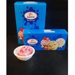 Krem Flavours: Strawberry Red Velvet Cheese Cake Ice Cream, 2 Months, Packaging Type: Box