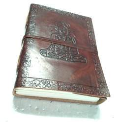 Lord Buddha Embossed Vintage Leather Journal