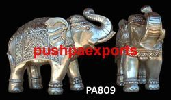 Silver Sheet Carving Elephant Statue