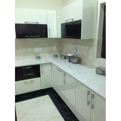 Kitchen Planet White Black Classic Modular Kitchen Rs 350000 Unit Id 17521890330
