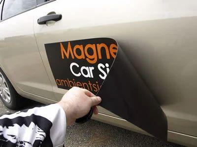 Vehicle branding magnet vinyl sheet